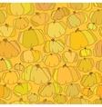 Pumpkin seamless pattern background vector image