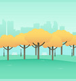 simple graphic of city park vector image
