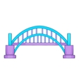 Sydney Harbour bridge icon cartoon style vector image
