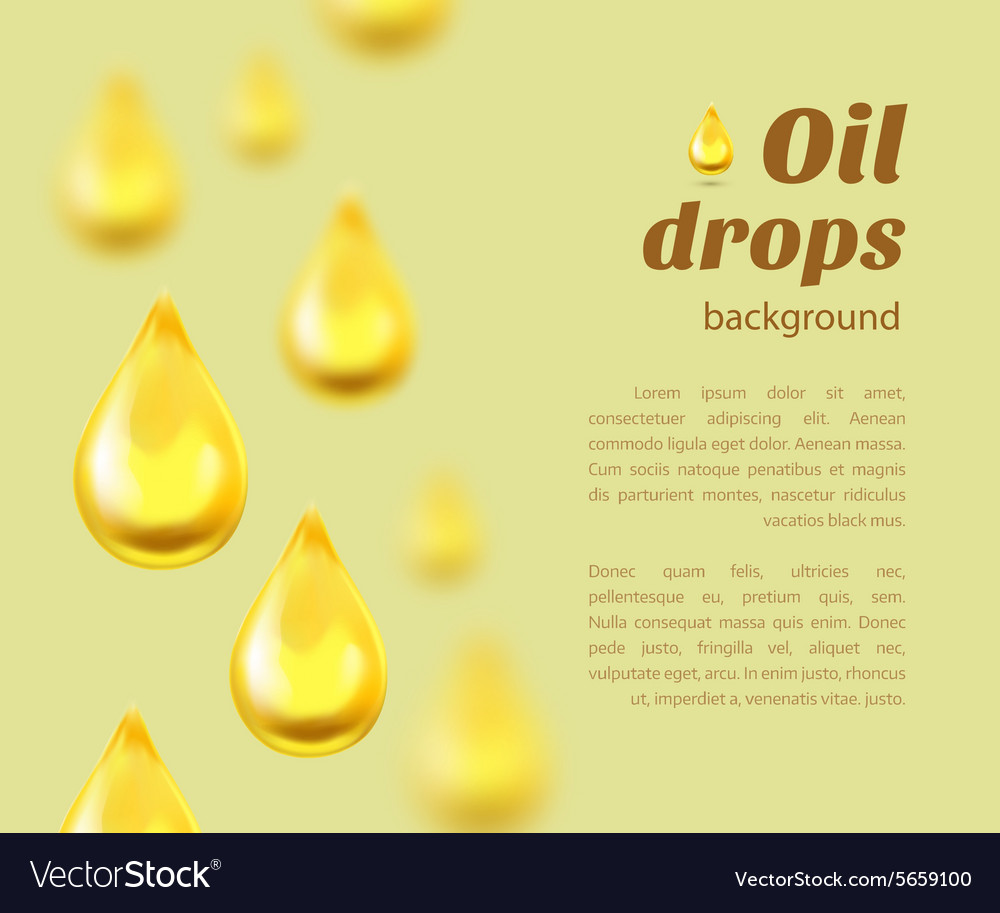 Oil drops background with place for text vector