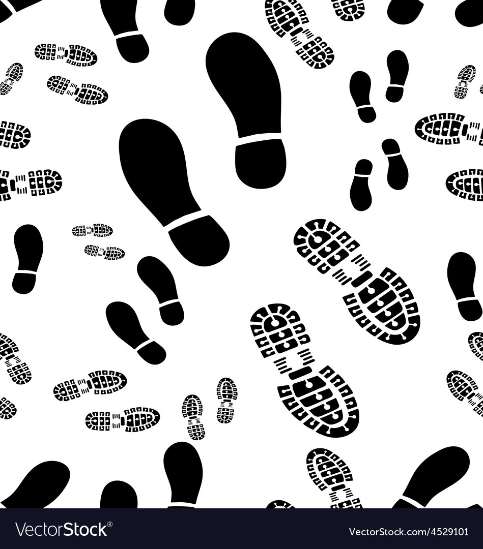 Prints of shoes vector