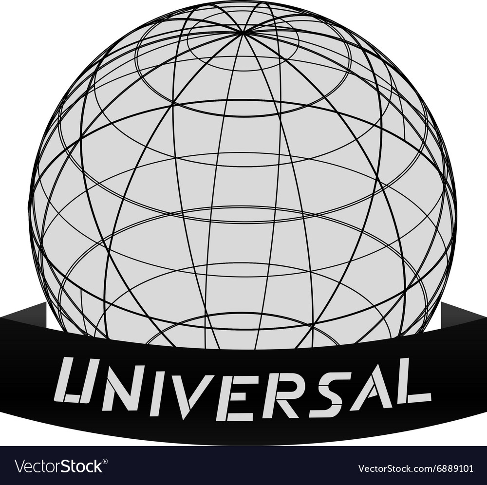 Universal world icon vector