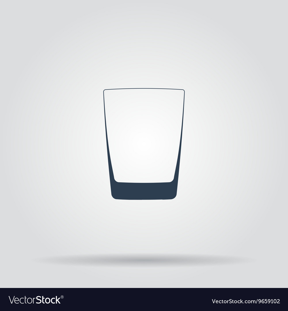 Glass of whiskey isolated photorealistic vector