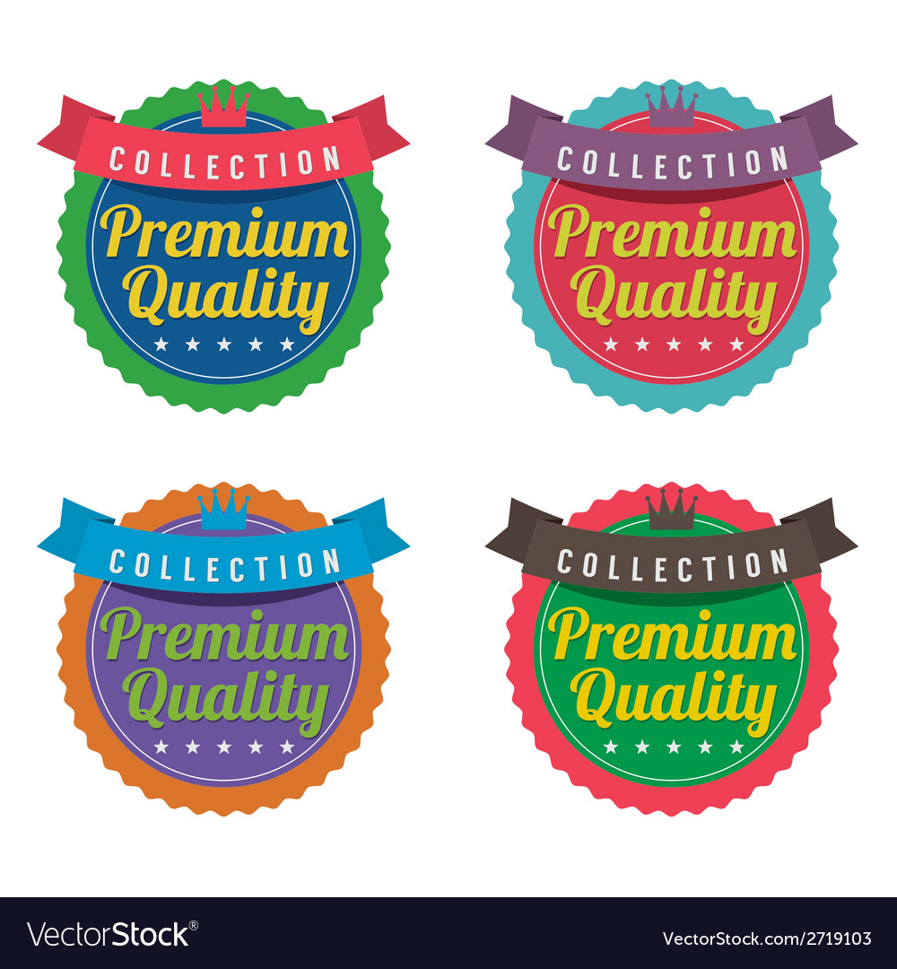 Set of colorful round labels vector