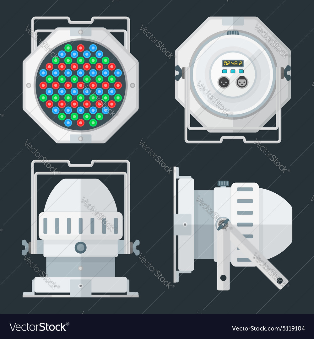 Led par professional stage lighting projector vector