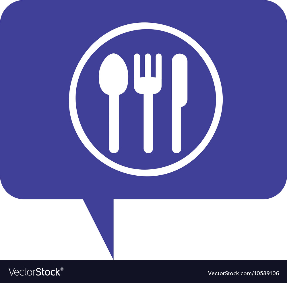 Cutlery menu restaurant icon vector