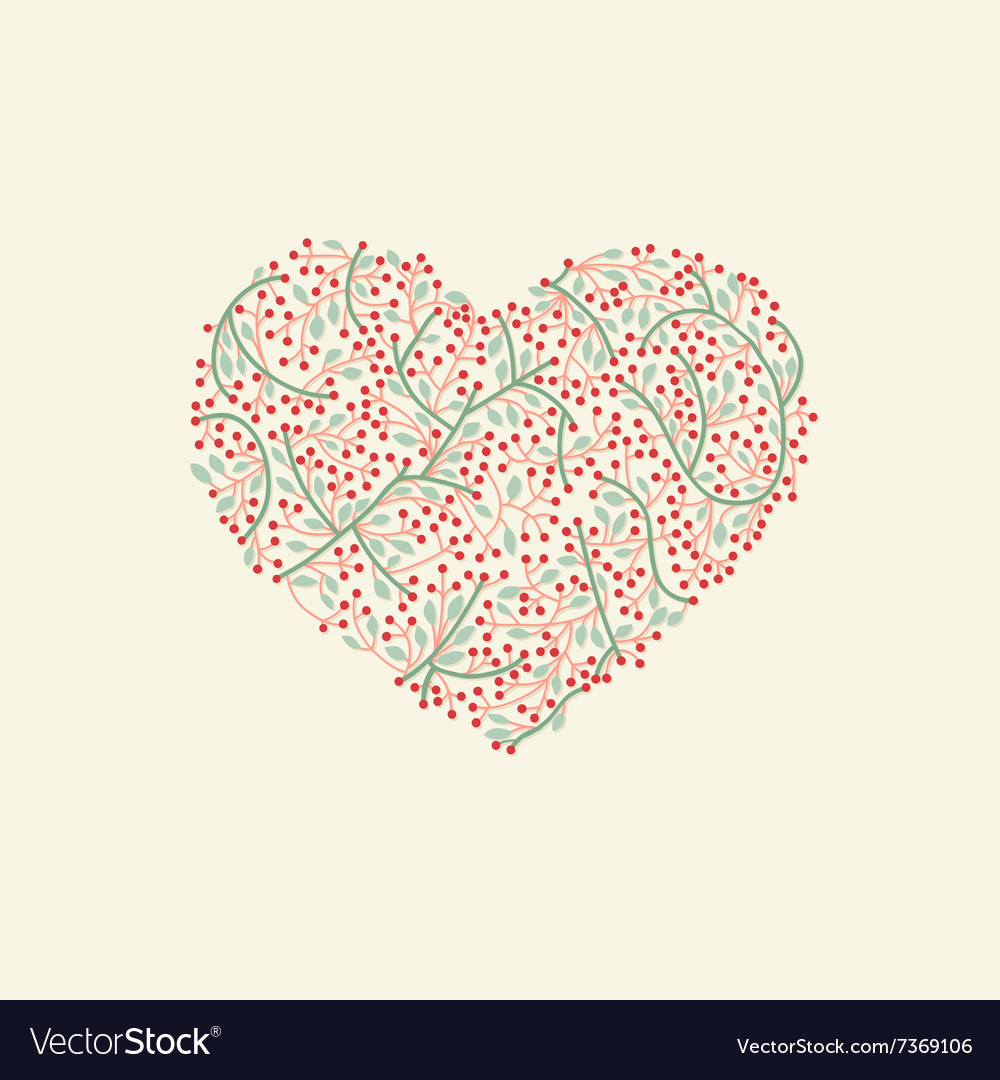 Stylized heart for valentine day vector