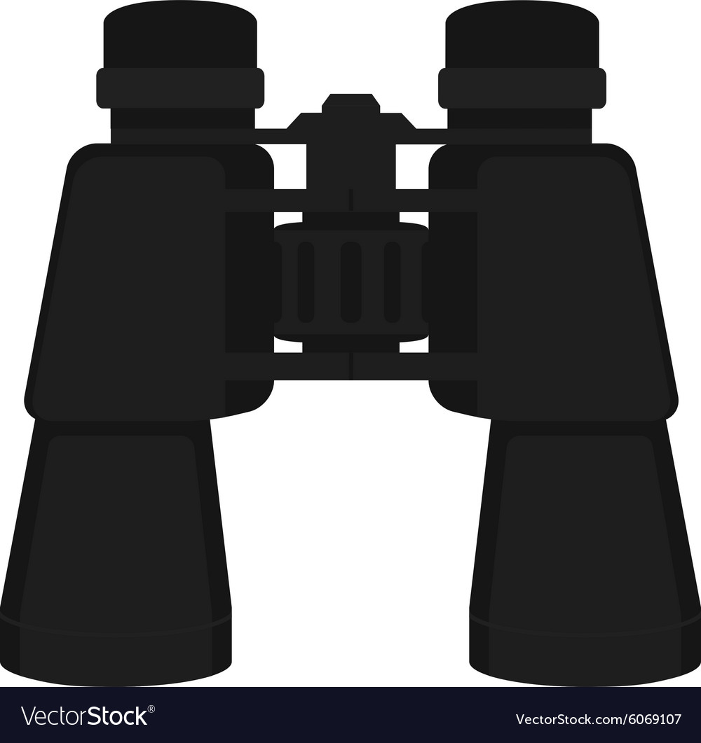 Binoculars icon color no outline vector