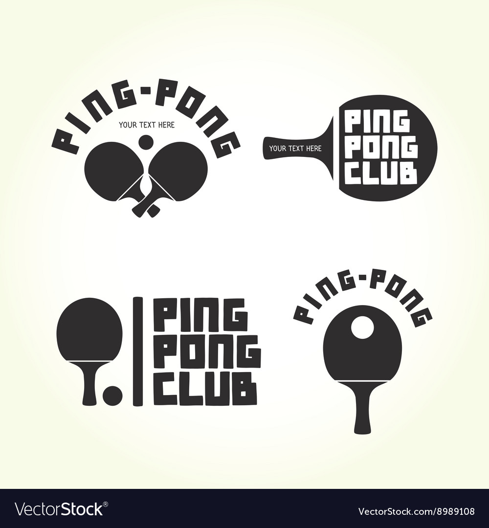 Pingpong club isolated logotypes vector