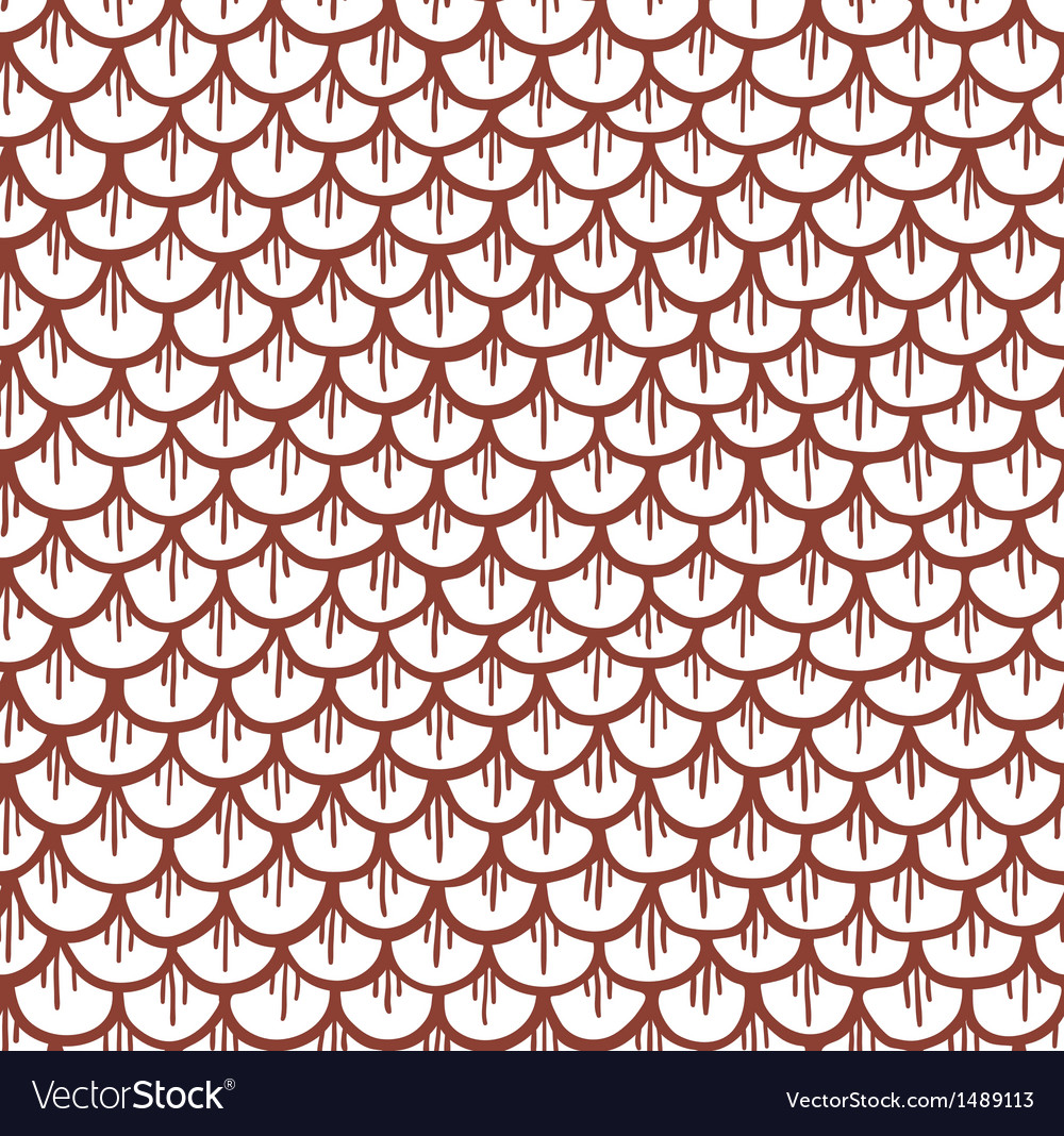 Fish scales seamless pattern cartoon brown vector