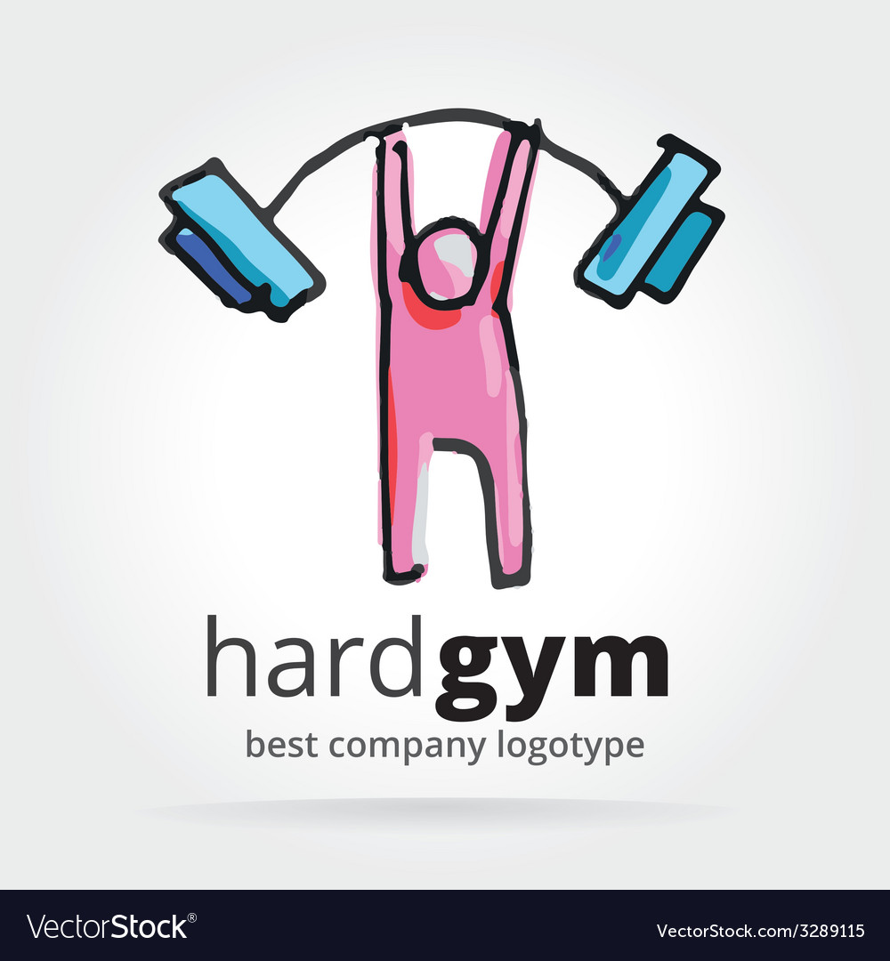 Abstract gym logotype isolated on white background vector
