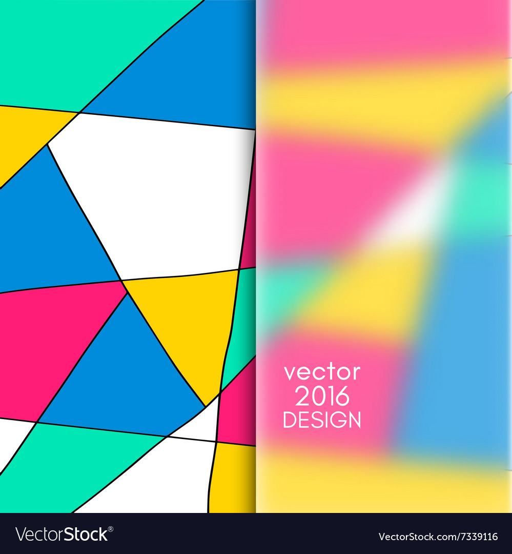 Multicolor design templates vector