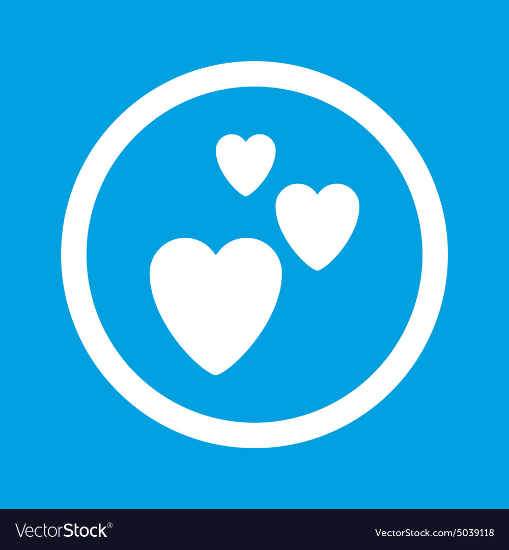 Love sign icon vector