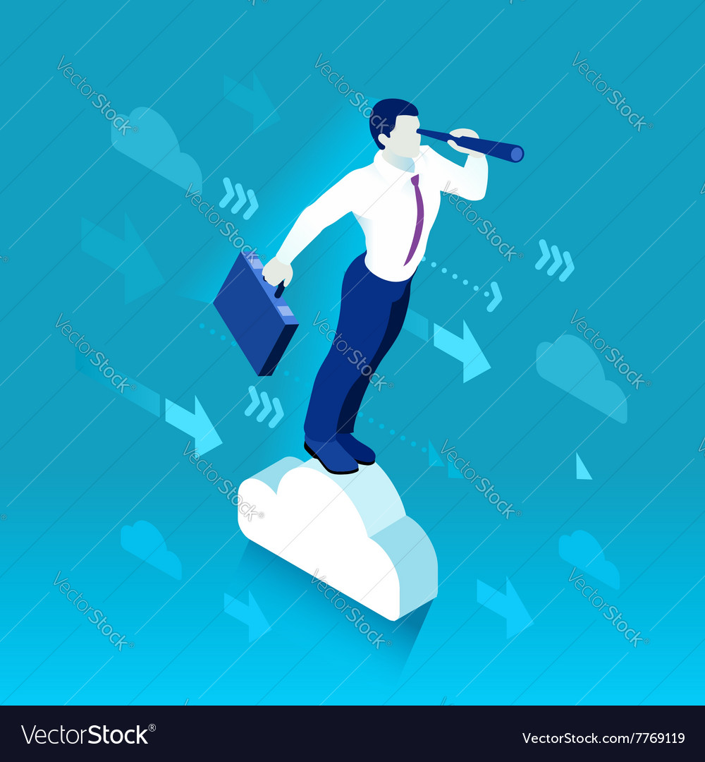 Business graph 03 people isometric vector