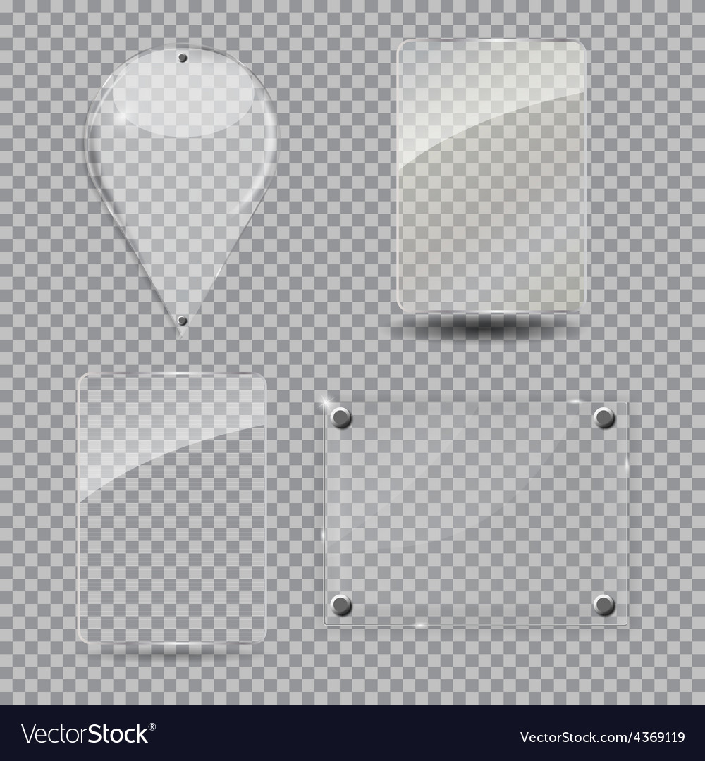 Glass frame set vector