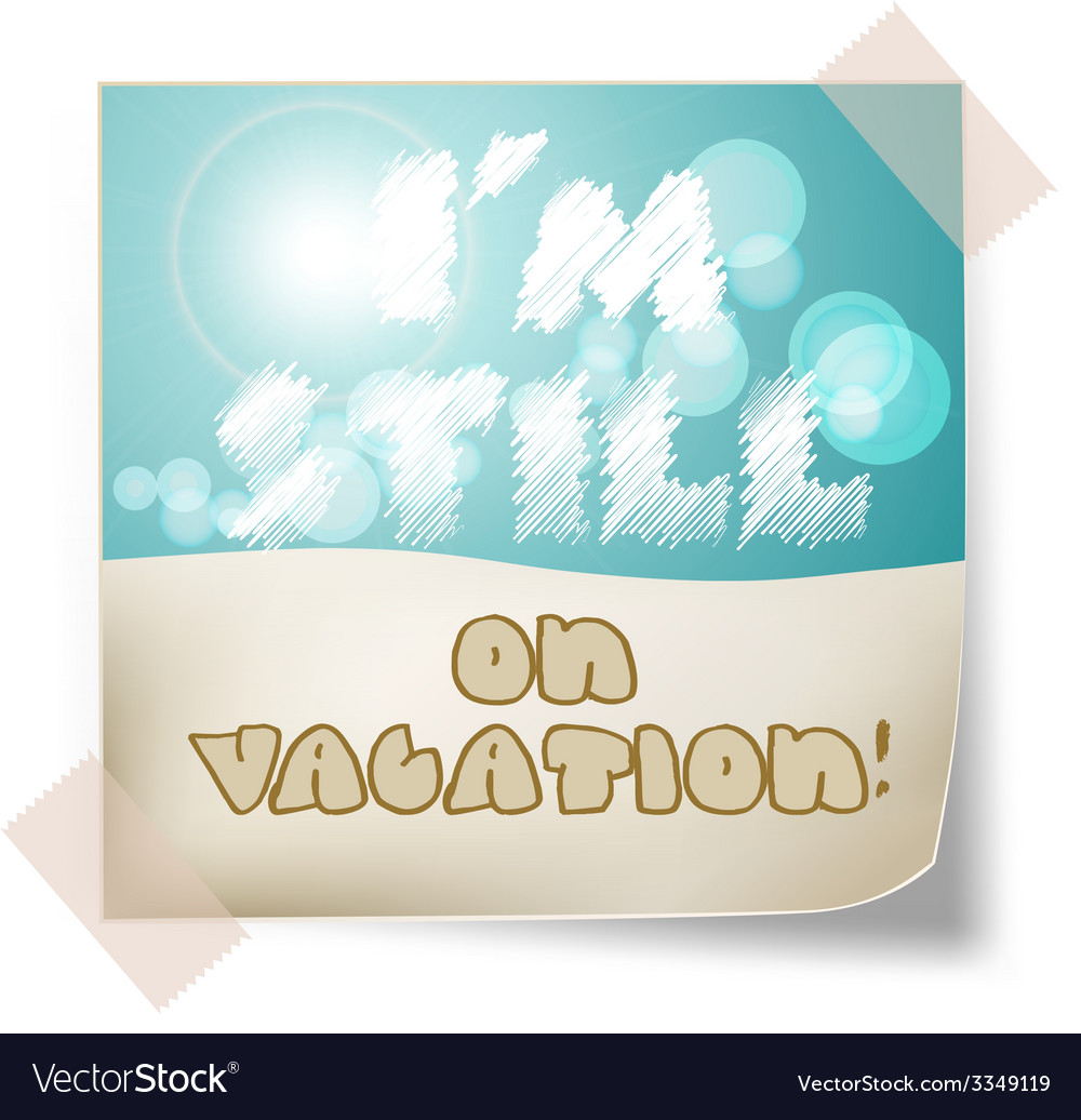 Still vacation vector