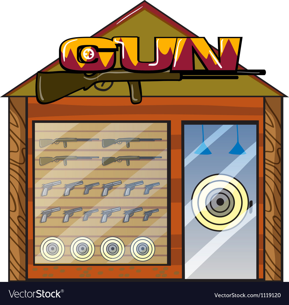 A gun shop vector