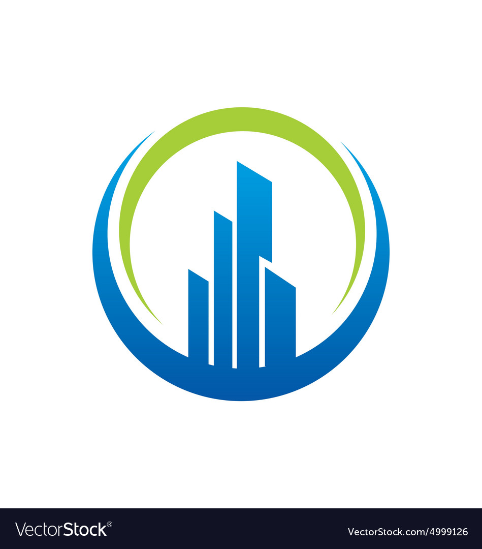 Building city construction logo vector