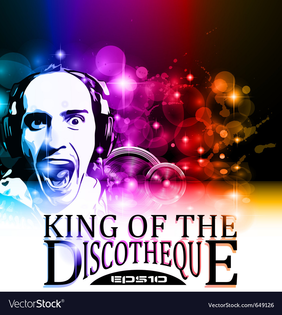 King of the discotheque vector