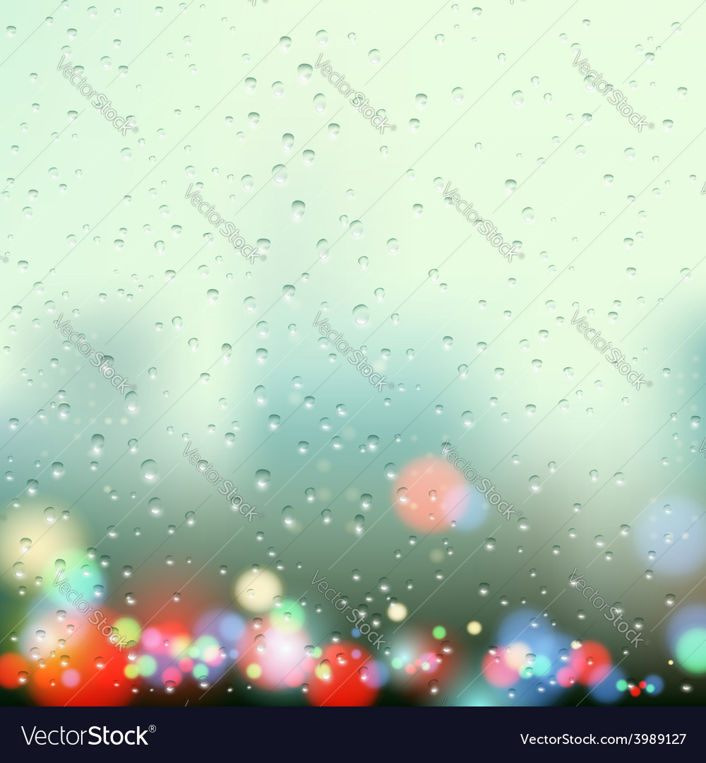 Drops on the window vector