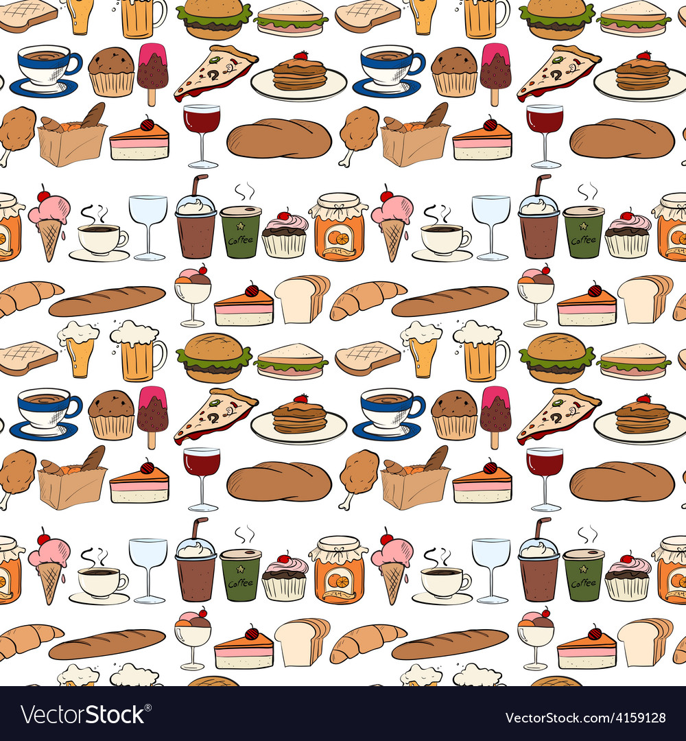 Seamles food vector
