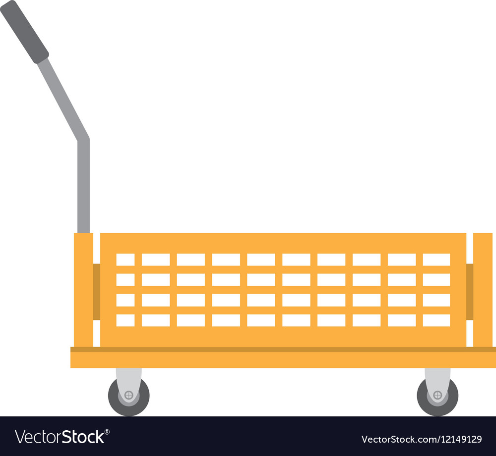 Warehouse trolley with protection boxes vector