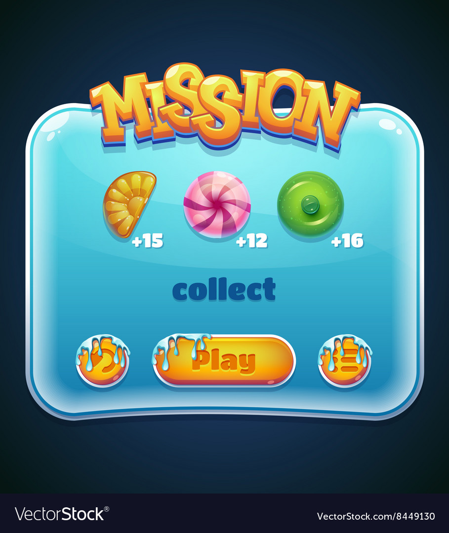 Game window for mission computer app vector