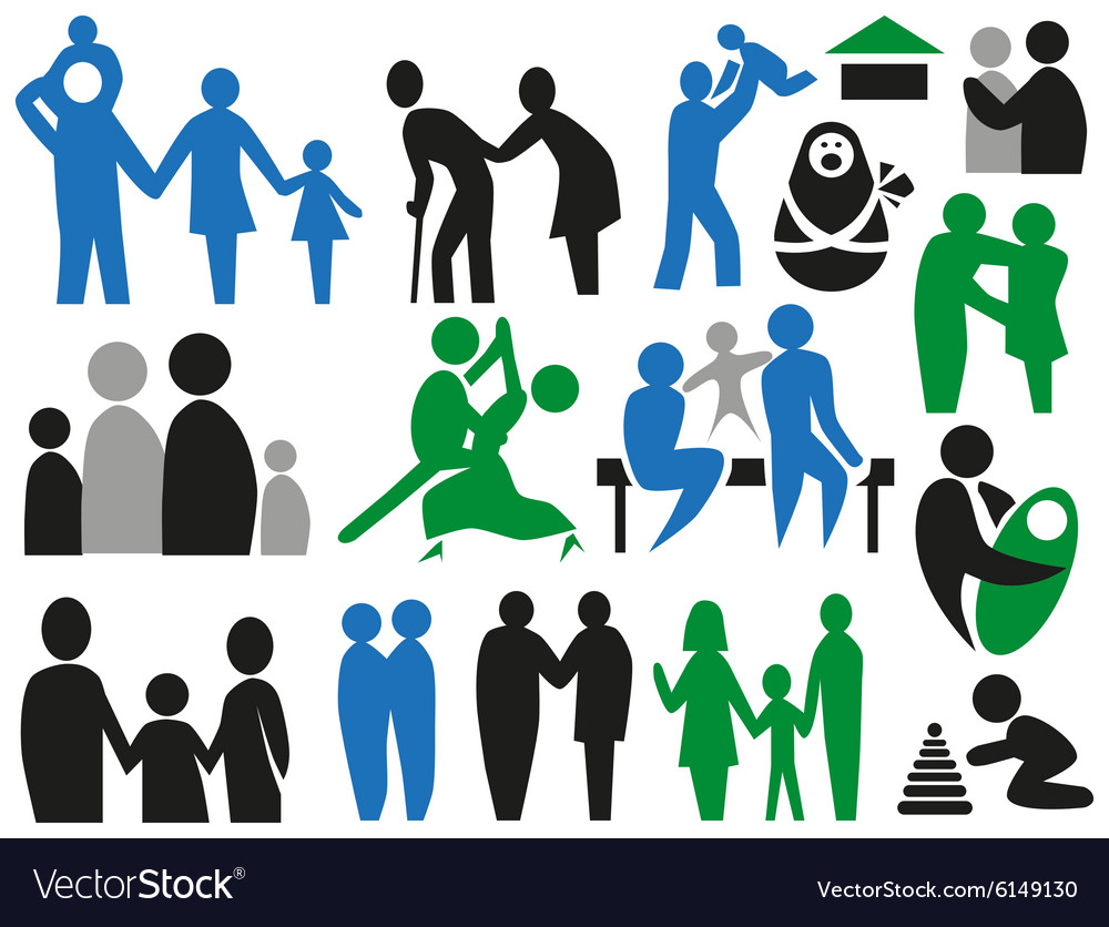 Icons family vector
