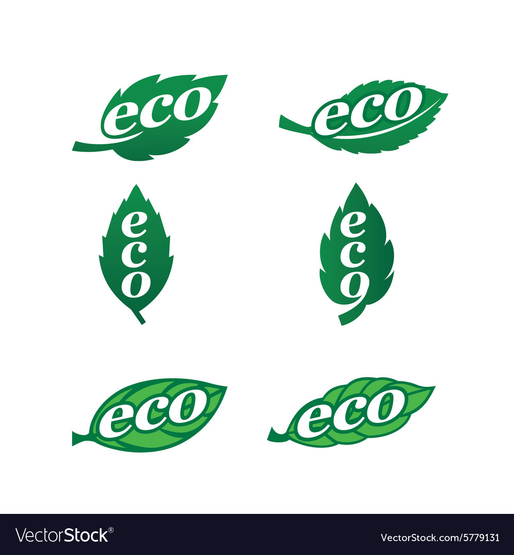Eco icons 1 vector