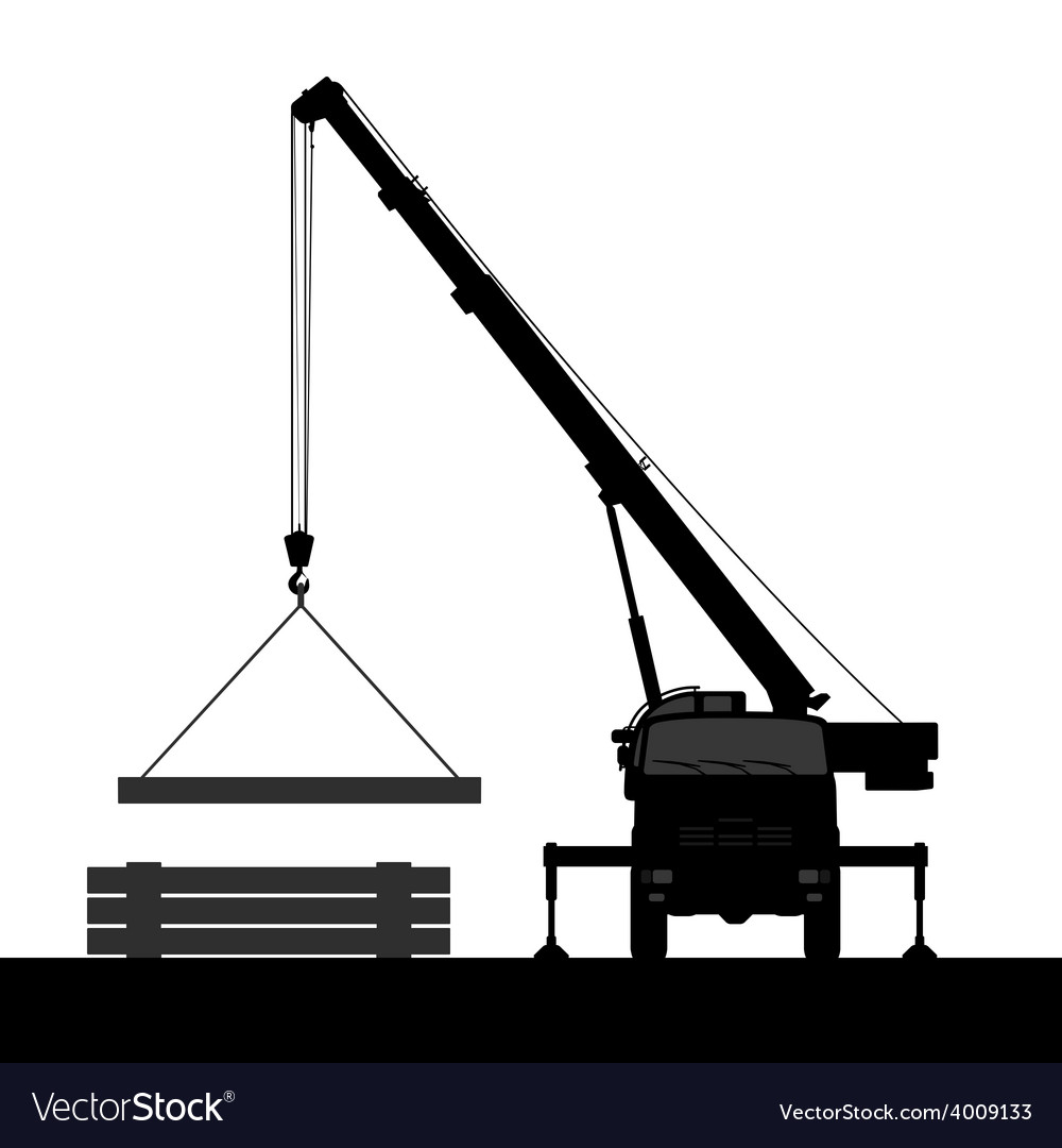 Crane silhouette on a white background vector