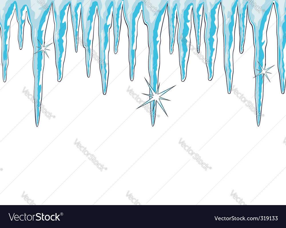 Shiny icicles vector