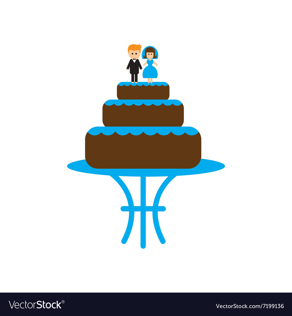 Flat web icon on white background wedding cake vector