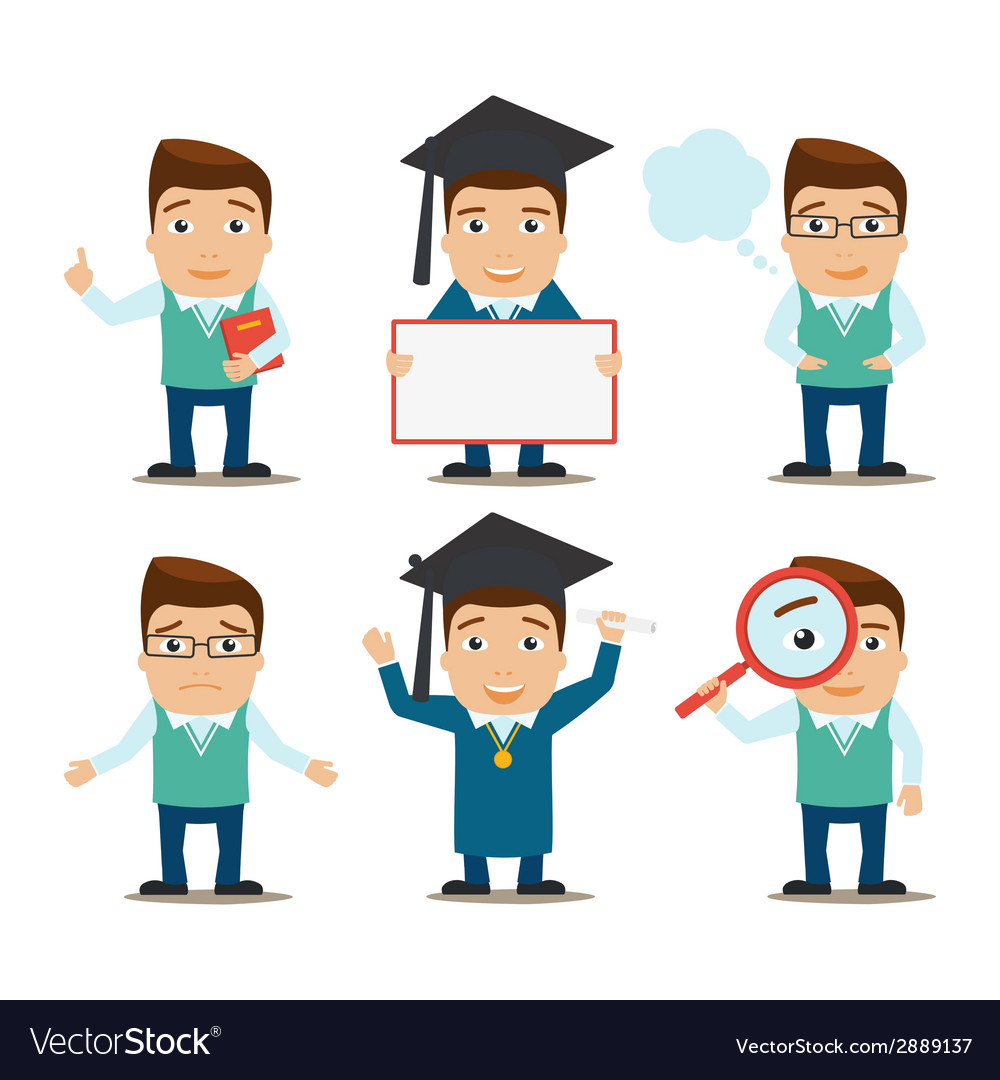 Education characters set vector