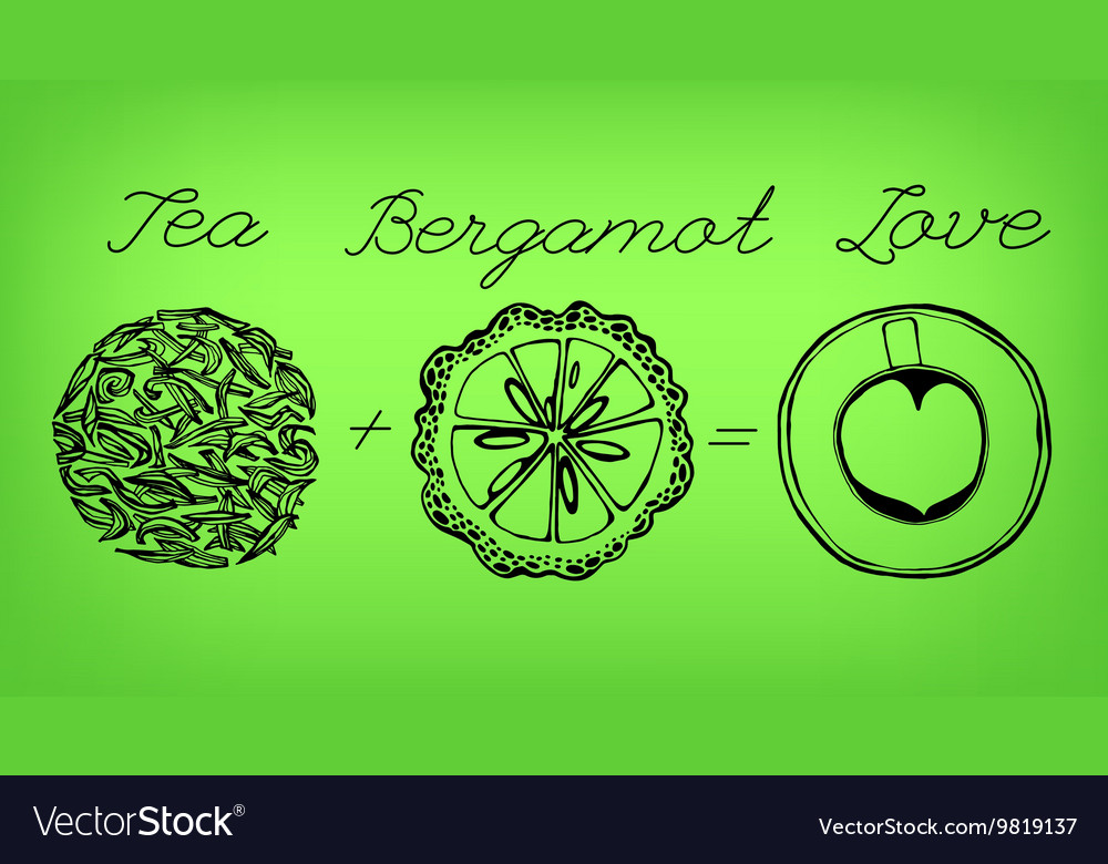 Tea time concept vector
