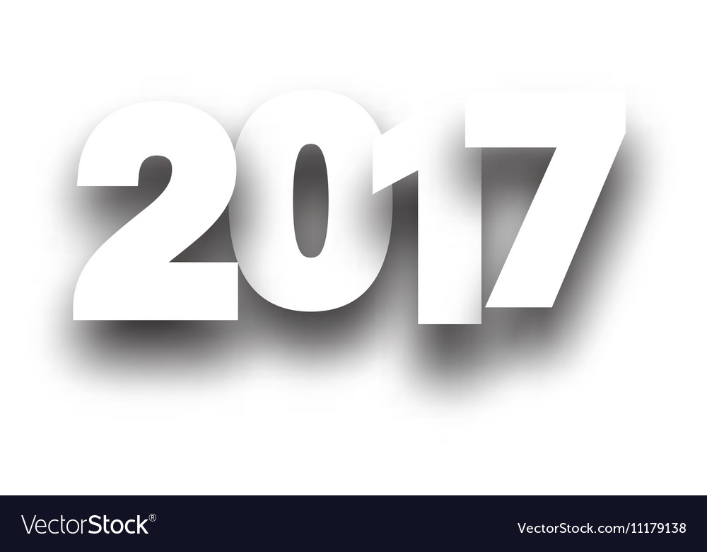 2017 new year white background vector