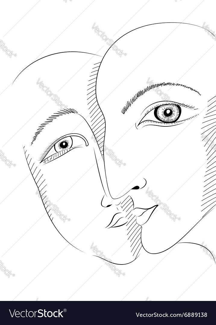 Graphic style design with man and woman in love vector