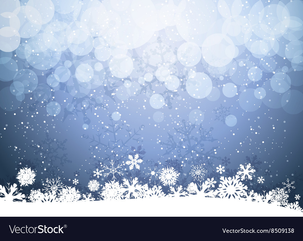 Snowy romantic christmas background vector