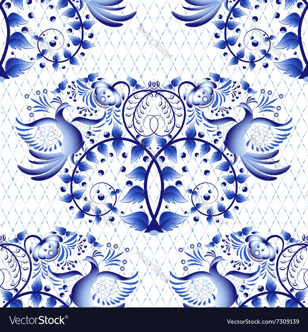 Seamless pattern imitation of painting on vector