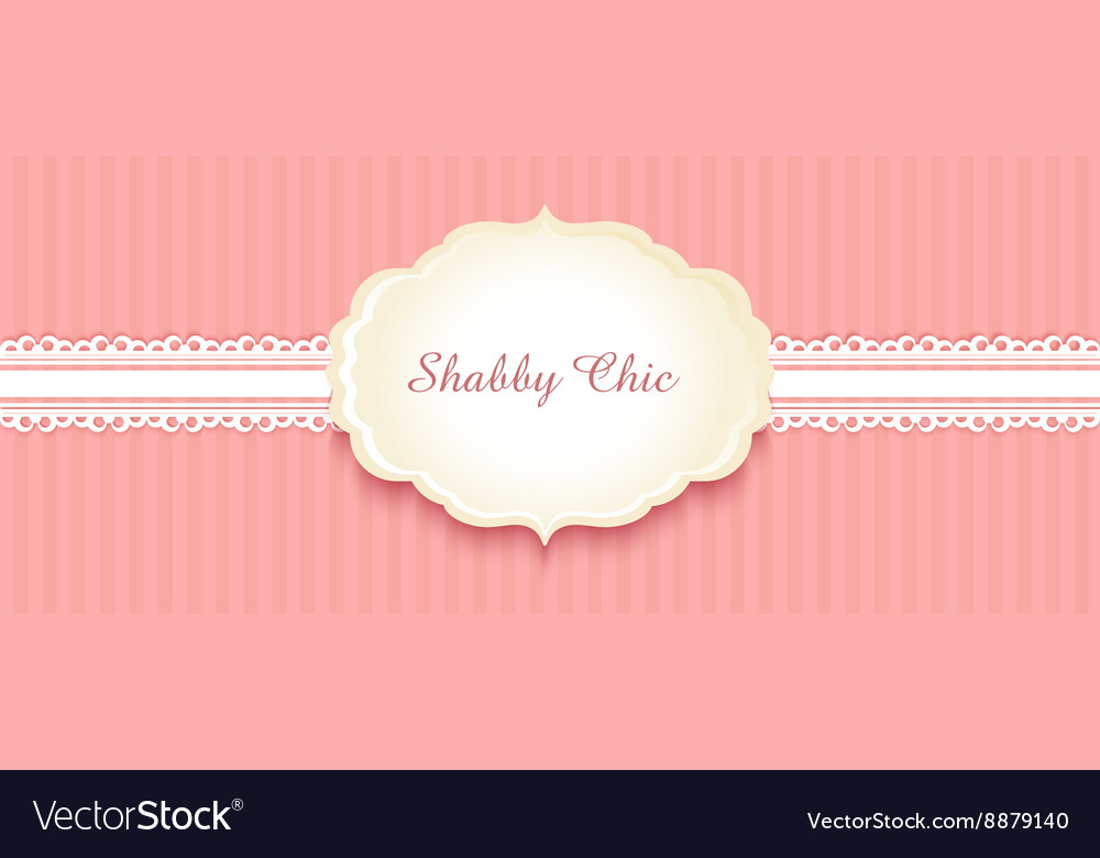 Shabby chic congratulations card vector
