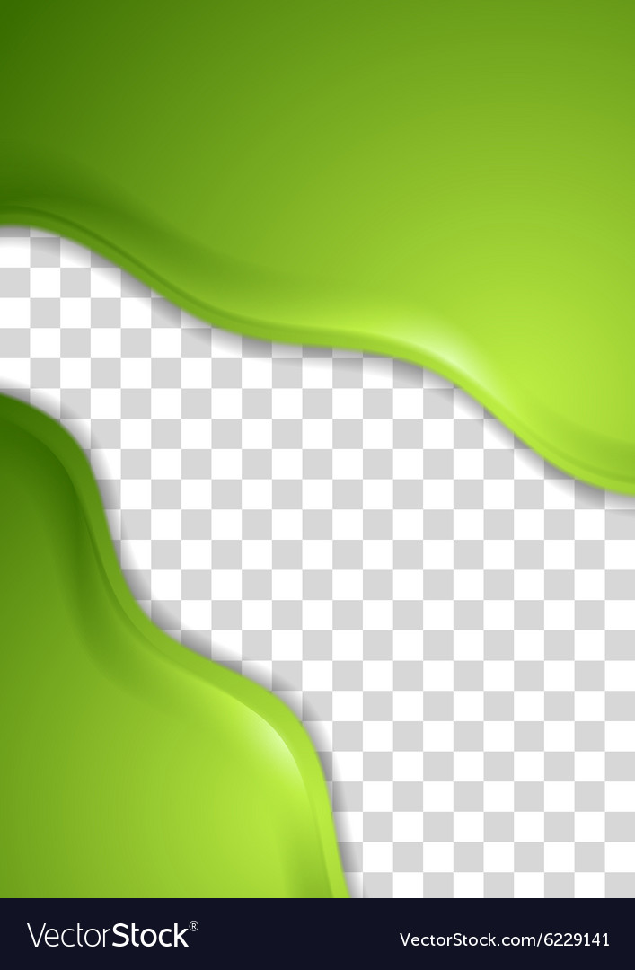 Abstract green waves flyer design vector