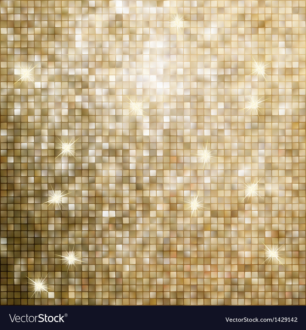 Golden abstract mosaic background eps 8 vector