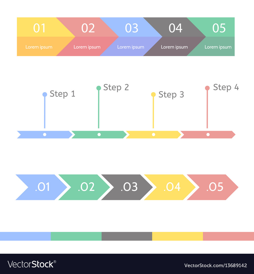 Progress chart statistic concept infographic vector