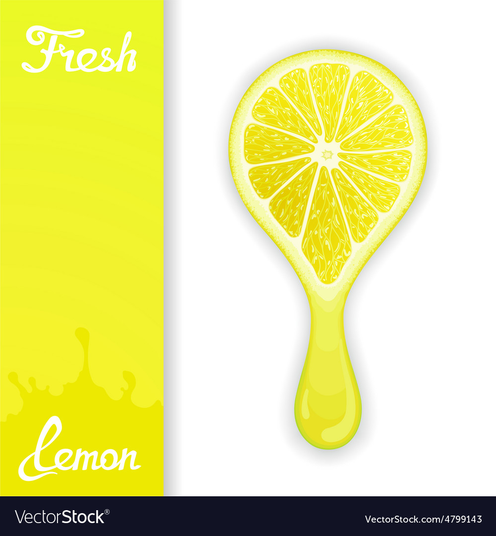 Lemon crush juice vector