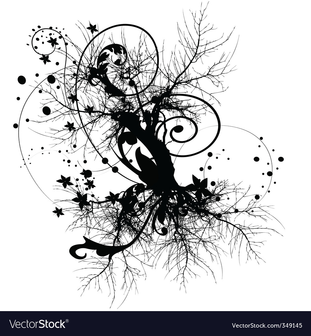 Tree roots design vector
