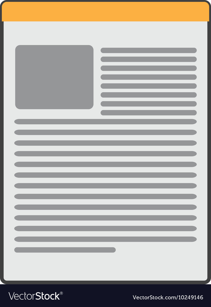 Paper document icon vector