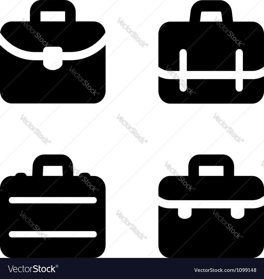 Briefcase icons vector