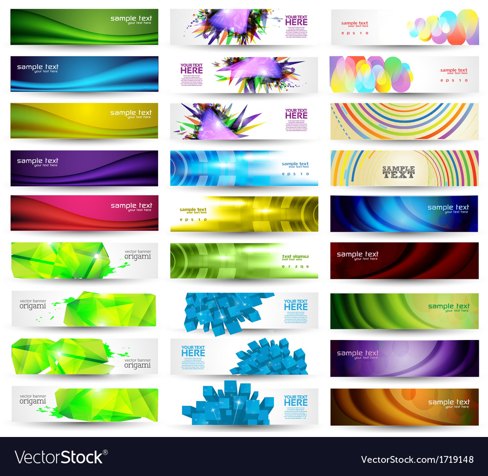 Huge banner set vector