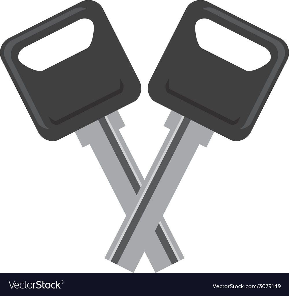 Car keys design vector