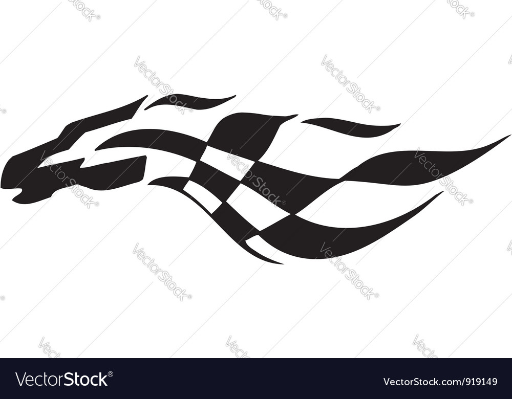 Checkered flag  symbol racing vector
