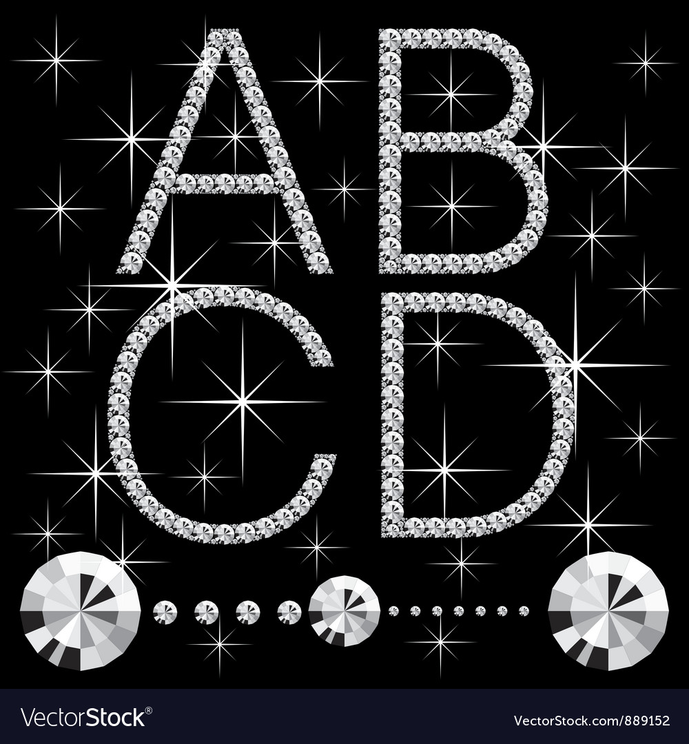 Diamond letters vector